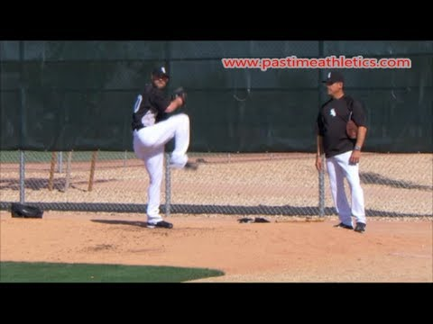 John Danks Slow Motion Baseball Pitching Mechanics - Chicago White Sox Pitcher Tips Drills MLB