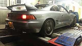 Mr2 Turbo spits big flames on dyno