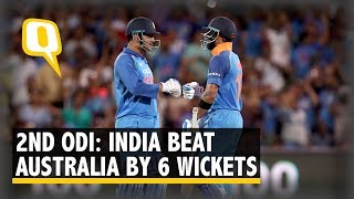 Match Recap: India Beat Australia by 6 Wickets to Level ODI Series 1-1 | The Quint