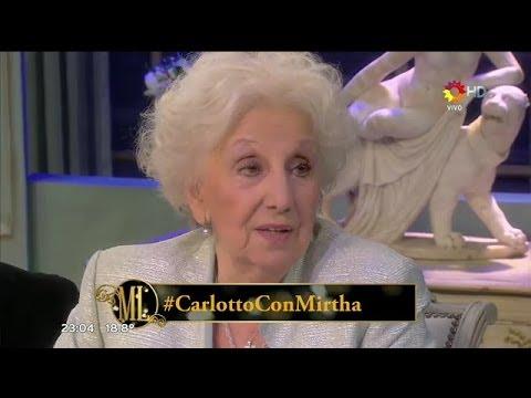 Estela de Carlotto con Mirtha Legrand hablando sobre el General Milani
