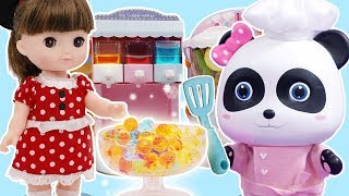 Toy Blender Playset Learn Colors | Play Doh Cooking | Baby Panda's Fruit Party | Doh Cake | ToyBus