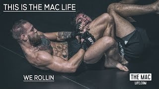 Conor McGregor rolling with Dillon Danis and Coach Kavanagh #TheMacLife