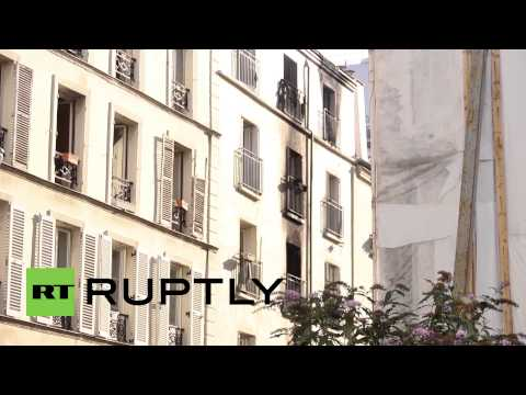France: Eight dead as Paris apartment building goes up in flames