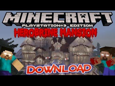 HEROBRINE MANSION + DOWNLOAD MINECRAFT PS3 PS4 EU & US / DISC & DIGITAL