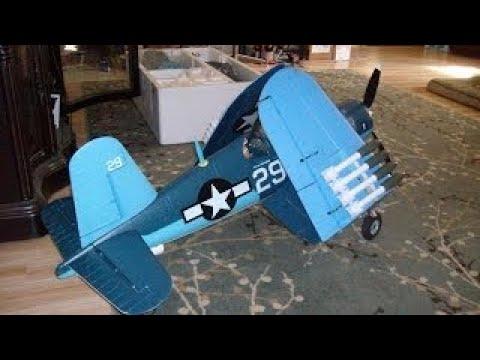 Super F4U Corsair Banana Hobby Folding Wing Corsair Flight