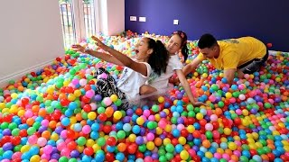 Ball Pit Challenge In My House