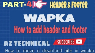 [Bangla]wapka tutorial  | How to make A download site  in Android[part-4]
