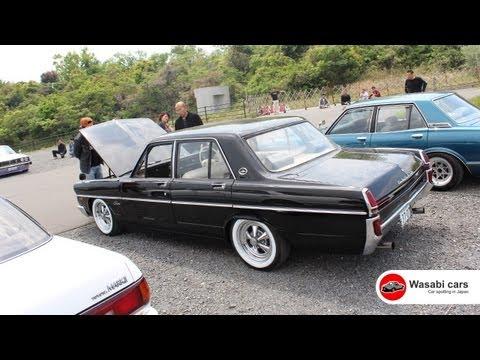 Beautiful Black 1970 Nissan Gloria with White-walls & Cragar SS's