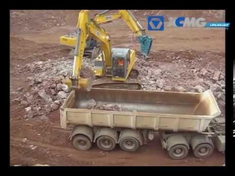 Excavadoras XCMG en Conchillas