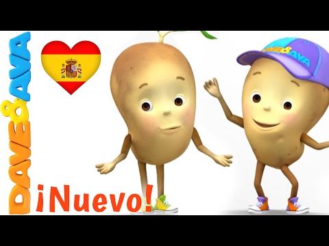 🥔 Canciones Infantiles en Español   Una Patata, Dos Patatas   Сanciones Infantiles de Dave y Ava 🥔