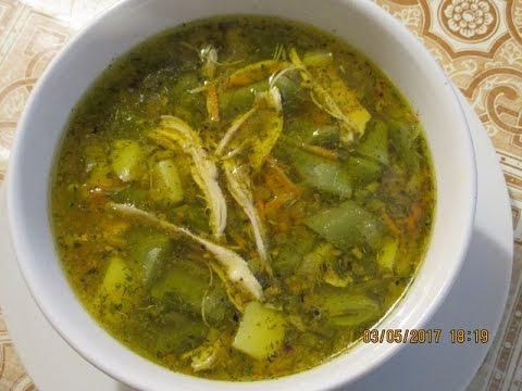 Куриный суп со стручковой фасолью. Lobiya şorbası