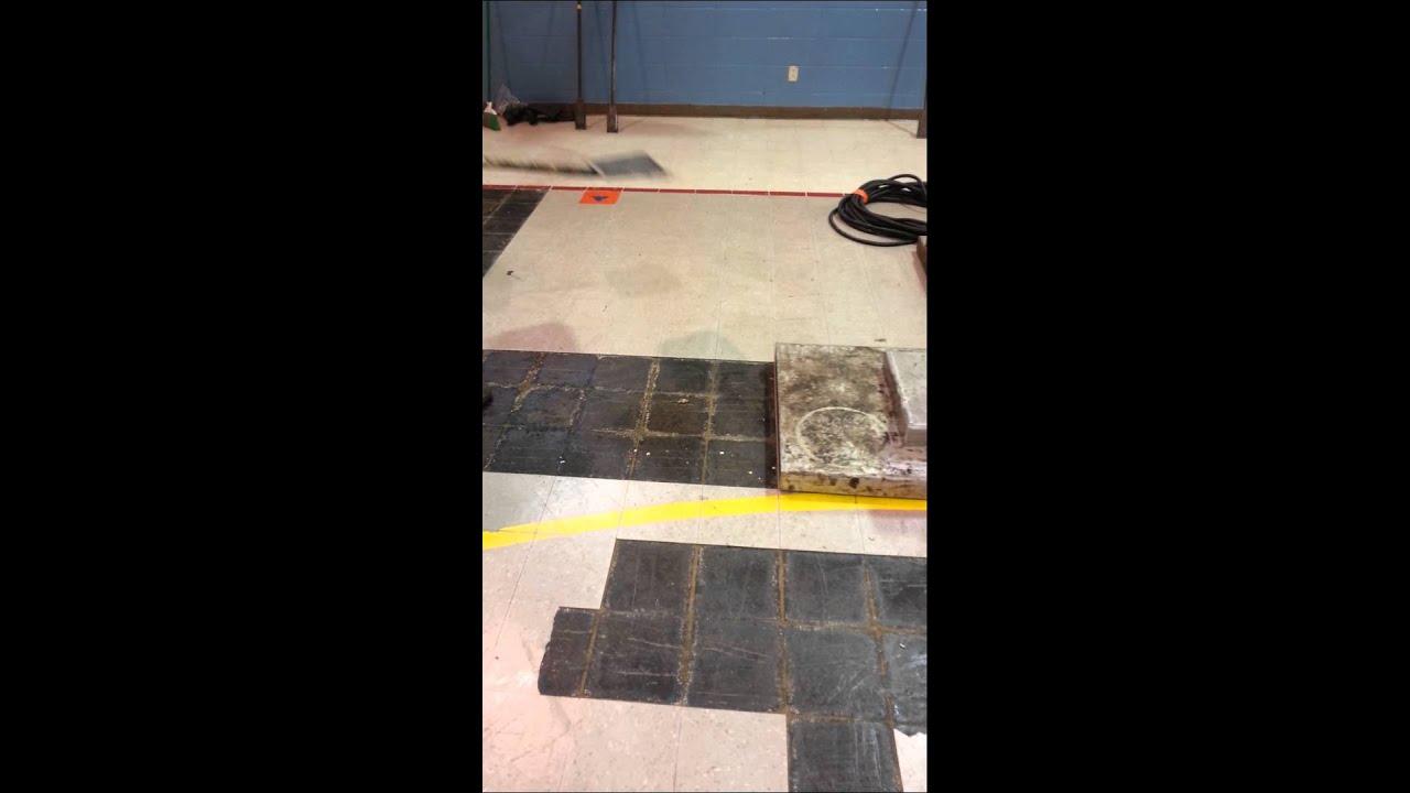 Infrared Heat Machine Removing Vat Floor Tile Youtube