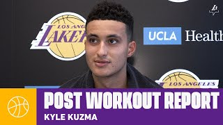 "Kyle Kuzma says he feels ""unbelievable, health wise"" 