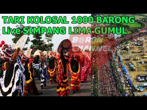 Kejadian Aneh !!! Saat Live Tari Kolosal 1000 Barong Festival Panji Di Simpang Lima Gumul Kediri