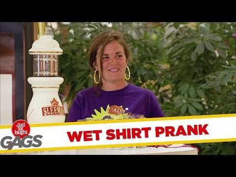 Beer & Wet T-shirt Prank video