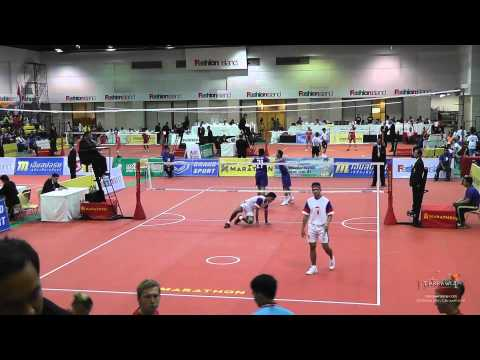 Kings Cup 2014 Sepak Takraw Indonesia Vs. Thailand - Doubles video