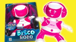 Disco Robo | DANCING ROBOT TOY WITH DISCO LIGHTS | TOSY | UNBOXING & REVIEW 2017