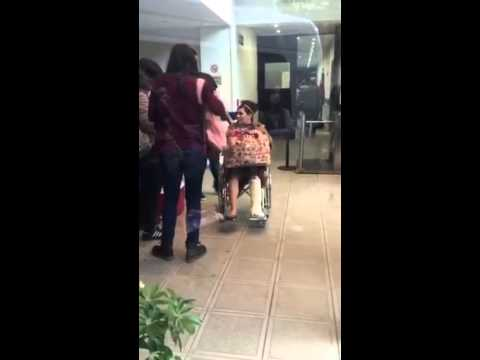 Así quedó Claribel Medina tras haber sufrido una fractura
