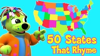 50 States That Rhyme | Song With Lyrics | U.S.A - Raggs Tv