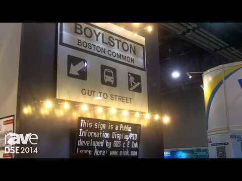 DSE 2014: EInk Highlights Its Digital Signage Product Uses No Power
