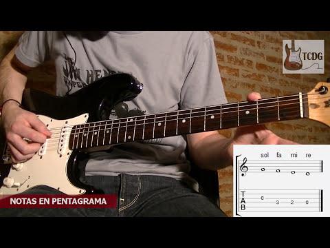 Aprende Como Leer Pentagrama y Partituras en Guitarra Eléctrica en solo 7 minutos! Tutorial TCDG