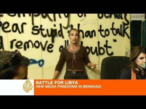 Battle for Libya: Independent media flourishes in Benghazi