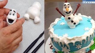 OLAF Frozen Cake  - How to make by Cakes StepbyStep