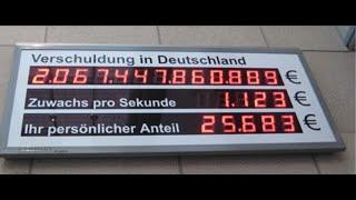Wahre Horrorverschuldung Deutschlands