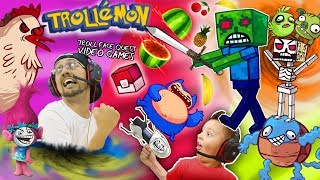 TROLLEMON? FGTEEV TROLL QUEST Pocket Edition (Scared Minecraft Steve + ¿What? Ninja = Awesome)