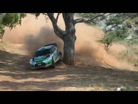 Mikko Hirvonen near crash WRC Rally Acropolis 2011