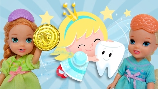 Anna and Elsa Toddlers Go to Dentist! Park Accident! Tooth Fairy Frozen Barbie Doctor Toys In Action