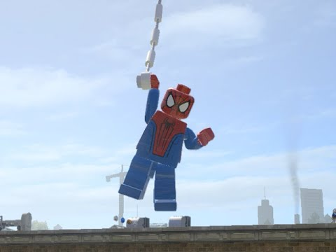 LEGO Marvel Superheroes - THE AMAZING SPIDER-MAN FREE ROAM GAMEPLAY (MOD SHOWCASE)