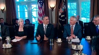 President Obama Holds a Cabinet Meeting
