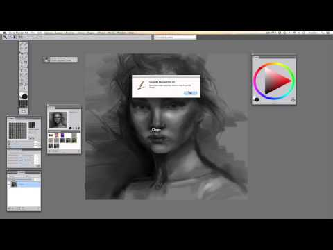 Free hand quick sketch in Corel Painter X3 with Wacom Intuos