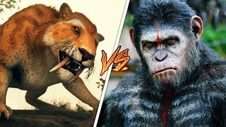 APE vs SABER TOOTH TIGER!! (Ancestors: The Humankind Odyssey)