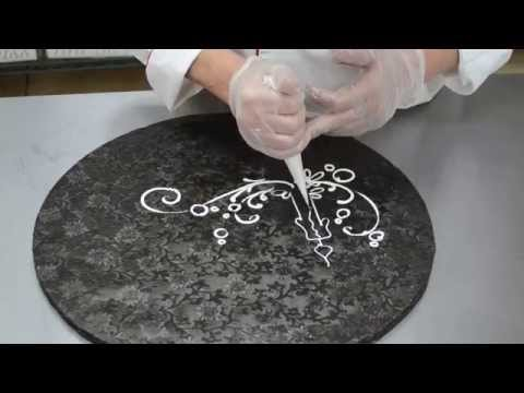 Watch Cake Decoration Piping Scrolls - Butter Cream drawing