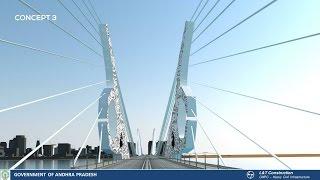 ప్రపంచ దేశాలకు దీటుగా అమరావతి ఐకాన్ | Amaravathi Iconic Bridge Design