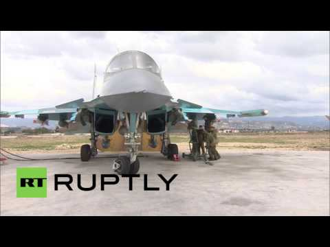 Syria: International journalists gain glimpse of daily life at Hmeymim airbase