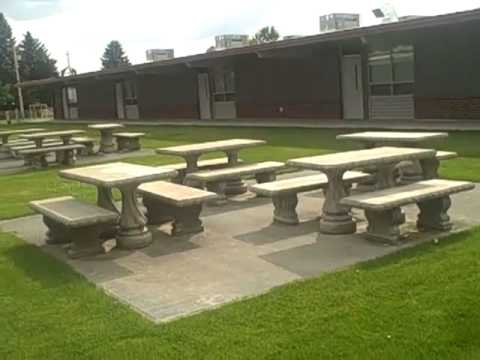 Tour of exterior of Lutacaga Elementary School  - Othello, WA    by Brian Gentry