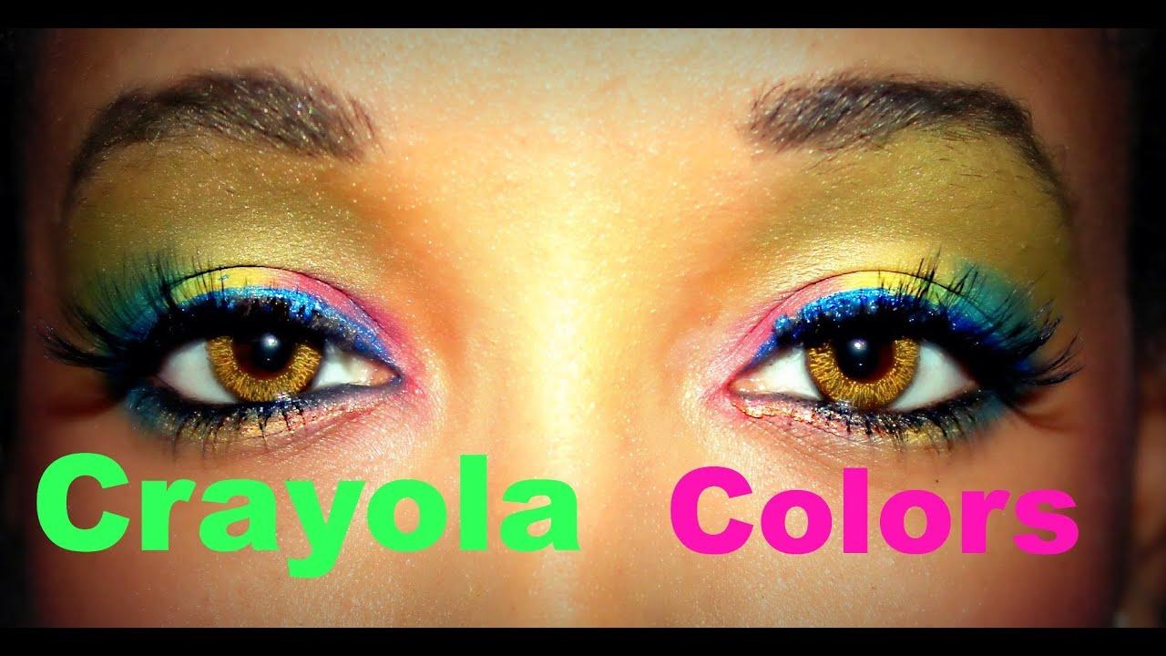 Crayola Colors Makeup Tutorial