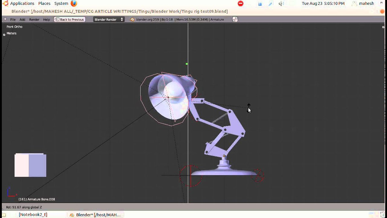 Pixar Luxo Lamp Rig Test Youtube
