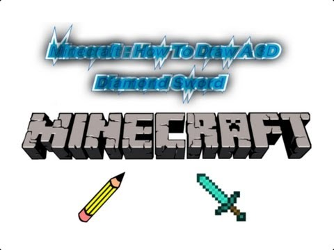 Minecraft : How To Draw A 3d Diamond Sword