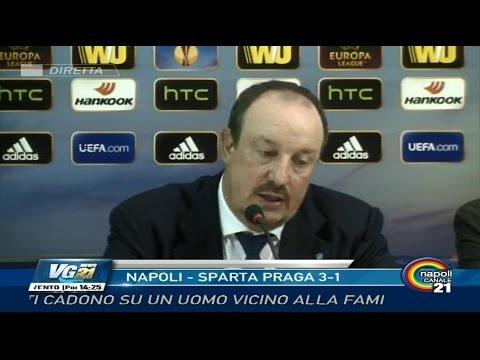 Intervista Napoli-Sparta Praga 3-1: Rafa Benitez – 1a Europa League 18/09/14