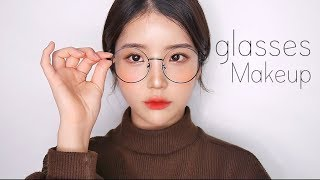 ENG 데일리 안경 메이크업(feat.화장안뜨는법) daily makeup tutorial- [쩡유]