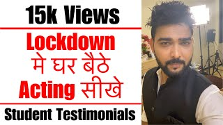 मुंबई मे कौन सा Acting Class join करे? Testimonials | Student of Lets Act Actor Studio,Mumbai