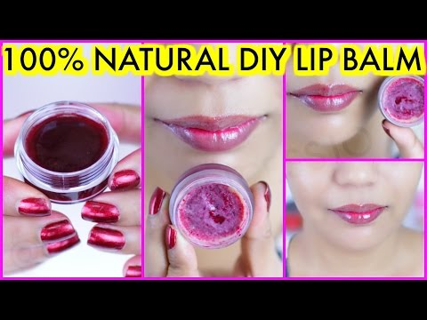 How To Make Lip Balm For Pink Soft Lips At Home 100% Natural Homemade {Hindi}   SuperPrincessjo