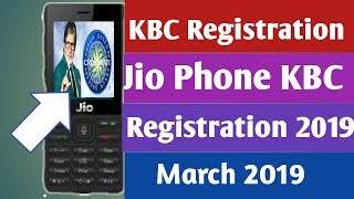 KBC Registration 2019 in Jio Phone/Jio Phone Se KBC Registration Kare/2019