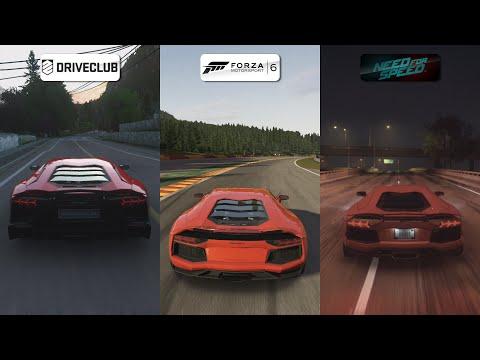 DriveClub vs Forza 6 vs NFS 2015 - Lamborghini Aventador Sound Comparison