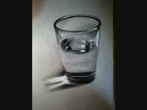 Crazy Water Glass Drawing 3d Illusion Youtube
