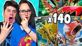 140 BUSTINE! LA MIA RAGAZZA TROVA UNA FUORISERIE ASSURDA! - Pokémon GCC Online #24